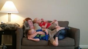 Faith and all three boys